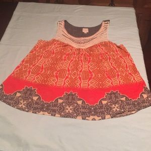 Sleeveless top from Anthropologie